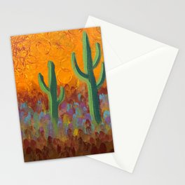 Saguaros Dreaming Stationery Cards