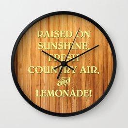 RAISED ON... LEMONADE! Wall Clock