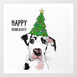 Happy Howlidays Great Dane Art Print