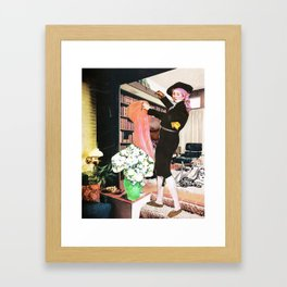 Party time at Karen's place Framed Art Print