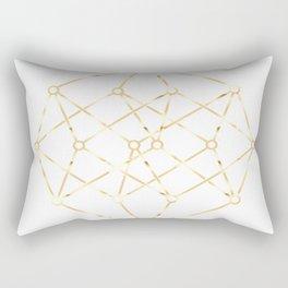 golden line . pink decorative art prints for living rooms, Wallpaper Rectangular Pillow