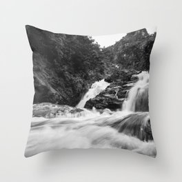 Flowing Ravana Falls Throw Pillow
