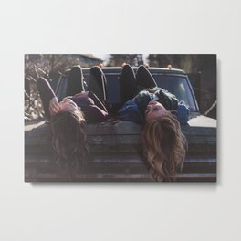 Girl's car Metal Print