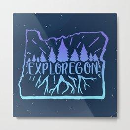 Exploregon (night sky) Metal Print