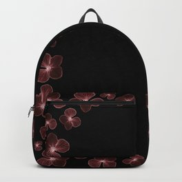 Hydrangea in deep maroon reds... Backpack