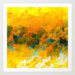 Morning Sun Glow Circle Pattern Abstract Art Print