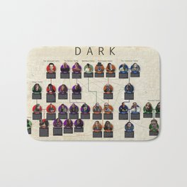 Netflix Dark Detailed Family Tree and Connections Bath Mat
