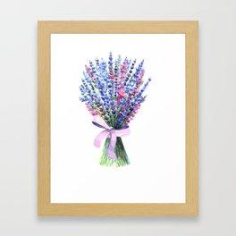 Lavender bouquet Framed Art Print