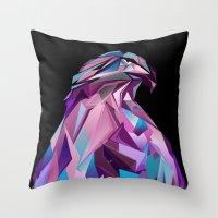 eagle Throw Pillows featuring Eagle by Jonathan Vizcuna
