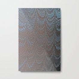 Raining Snow Water Marbling Metal Print
