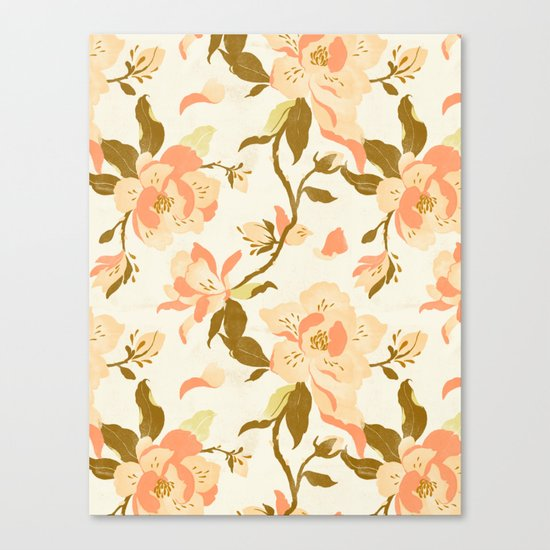 Magnolia Pattern Canvas Print