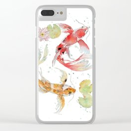 """Watercolor Painting of Picture """"Koi Pond"""" Clear iPhone Case"""