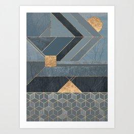 Nordic Blue Art Print