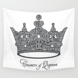 County of Queens | NYC Borough Crown (GREY) Wall Tapestry
