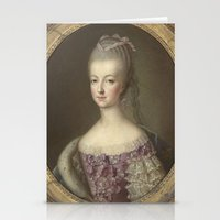 marie antoinette Stationery Cards featuring Marie Antoinette by Mary