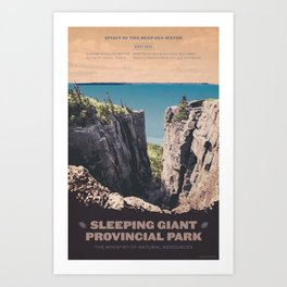 Sleeping Giant Provincial Park Art Print