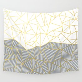 Ab Half and Half Grey Wall Tapestry