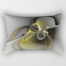 Abstract, Golden Gray Fractal Art Rectangular Pillow