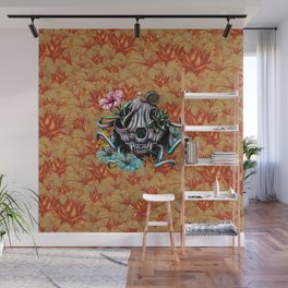The Skull the Flowers and the Snail CoLoR Wall Mural