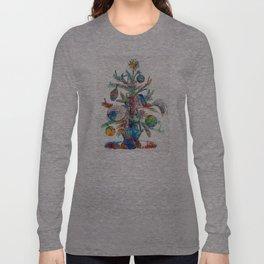 Colorful Christmas Tree Art by Sharon Cummings Long Sleeve T-shirt