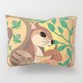 Geometric Squirrel Pillow Sham