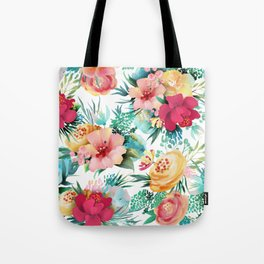 Bright and Bold Flowers Tote Bag