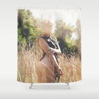 rebel Shower Curtains featuring Rebel by Josefina