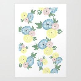 Easter Ranunculus Art Print