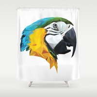 parrot Shower Curtains featuring PARROT by MGNFQ