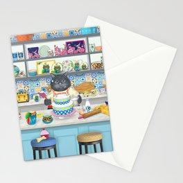 GiGi Enjoys Baking a Cake Stationery Cards