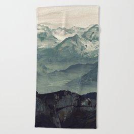 Mountain Fog Beach Towel