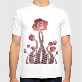 Floral Octopus Tentacles with Roses T-shirt
