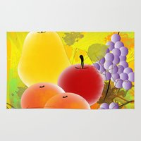 fruit Area & Throw Rugs featuring Fruit by Ramon J Butler-Martinez
