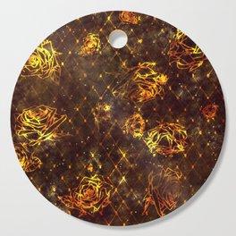 Diamond Rose Pattern - Maroon and Gold Cutting Board