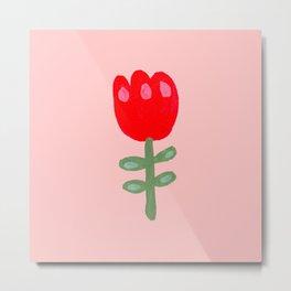 Red Flower Painting Metal Print