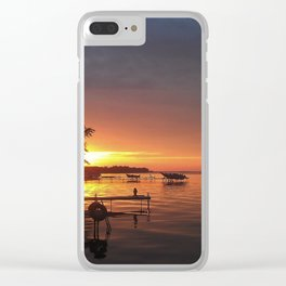 NY sunset Clear iPhone Case