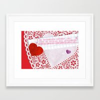 pi Framed Art Prints featuring pi by judy lee