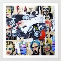 celebrity Art Prints featuring Celebrity by Paper Possible