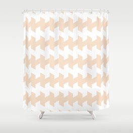jaggered and staggered in linen Shower Curtain