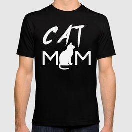 CAT MOM Funny Shirt Cat T-Shirt Tee Mama Cat Kitten Lover T-shirt Tee Top Women T-shirt