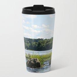 White Crane Travel Mug