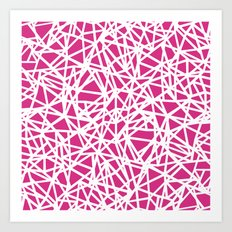 Ab Upside Down Pink Art Print