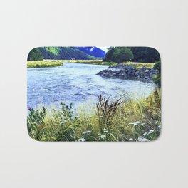 As a River Serpentines Through the Mountains Bath Mat