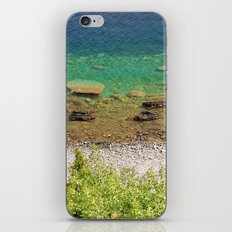 Stone shore on the lake in Canada iPhone & iPod Skin