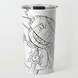 Robot Pirate - ink Travel Mug