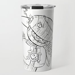 Robot Pirate - ink Travel Mug
