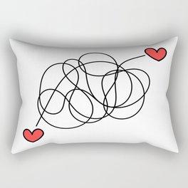 Hearts found each other (no text) Rectangular Pillow
