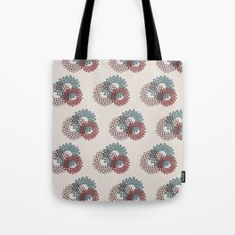 Flower Power surface pattern (blue-purple) Tote Bag