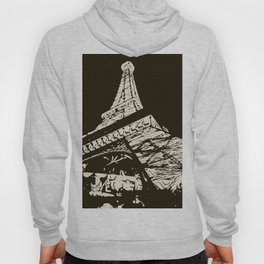 Eiffel Tower, Paris in black and white Hoody