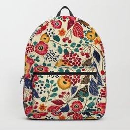Botanical Block Print Backpack
